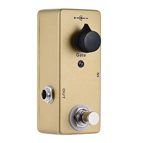 QuRRong Guitar Effect Pedal Noise Gate Noise Reduction Suppressor Mini Single Guitar Effect Pedal True Bypass Gold Color for Practice (Color : Gold, Size : 9.4 x 4x 3.2cm)