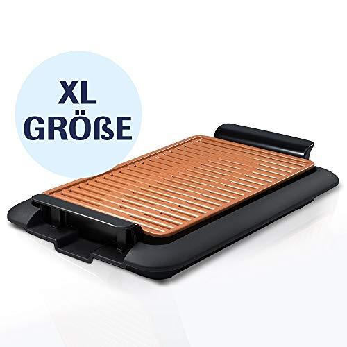 Mediashop Livington Smokeless Grill XL Tischgrill rauchfrei Indoor Griller BBQ inkl. Grillrost Fettauffangschale | Das Original aus dem TV