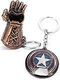 Sio & Tan Captain America Keychain Shield Bottle Opener Thanos Glove Infinity War Gauntlet Key chain Bottle Opener