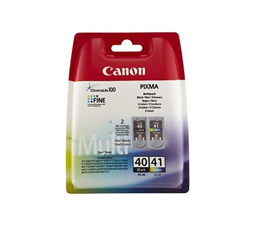 Canon Tintenpatrone Canon CL41+P40 schwarz+farbig Multipack VE=2 Stück
