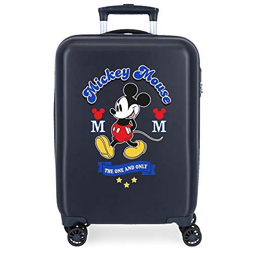 Disney Have a good day Mickey Valise Trolley Cabine Bleu 37x55x20 cms Rigide ABS Serrure à combinaison 34L 2,6Kgs 4 roues doubles Bagage à main