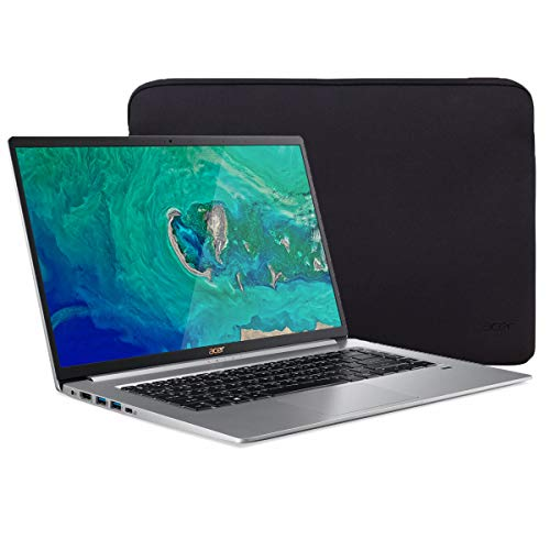 Acer Swift 5 SF515 Touchscreen Laptop, 15.6' IPS FHD Thin and Light PC, Core i7 up to 4.60 GHz, 16GB RAM, 512GB PCIe SSD, Backlit KB, FP Reader, USB-C/DP, HDMI, Mytrix Laptop Sleeve, Win 10