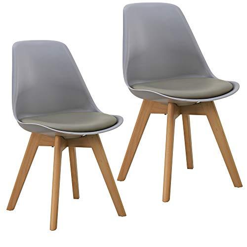 Orville Milou Designer Stuhl Grau | robust & Leichter Aufbau | Ideale Esszimmerstühle, Stühle Esszimmer, Esszimmerstühle 2er-Set, Esstisch Chair, Küchenstühle, Essstühle, Esszimmerstuhl, Schalenstuhl