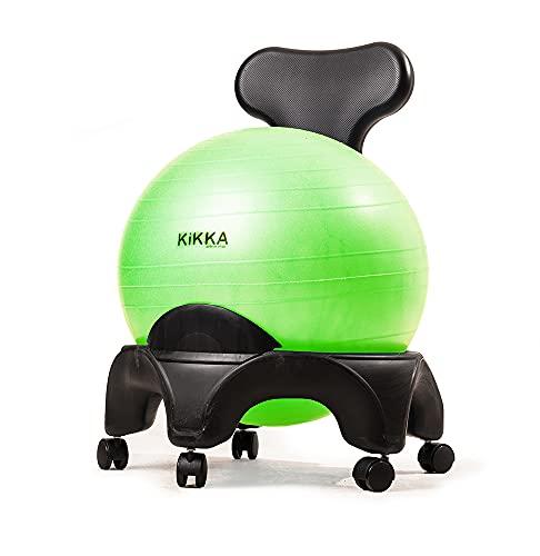 Kikka Active Chair 5, con 5 gambe - in conformità al Testo Unico Sicurezza sul Lavoro (Verde)
