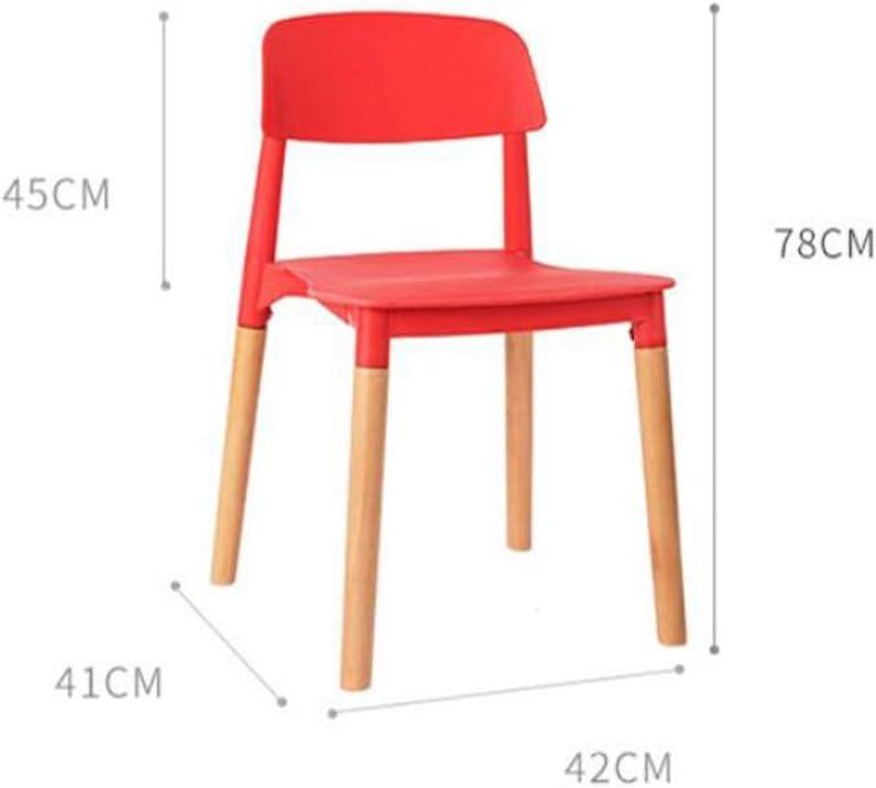 Magnifique Simple Chaise Bureau étudiant et Chaise de Maquillage Tabouret Retour à la Maison à Manger Chaise d'ordinateur Fort (Color : Black) Black