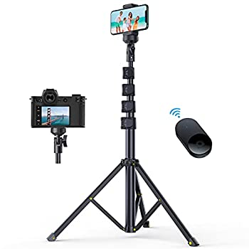 andobil 62   All-in-One Tripod for iPhone with Bluetooth Remote Extendable Phone Tripod Stand with Flexible Holder Fit for iPhone 12 Pro Max/11 Samsung S21/S20 All Phones Camera GoPro[Heavy Duty]