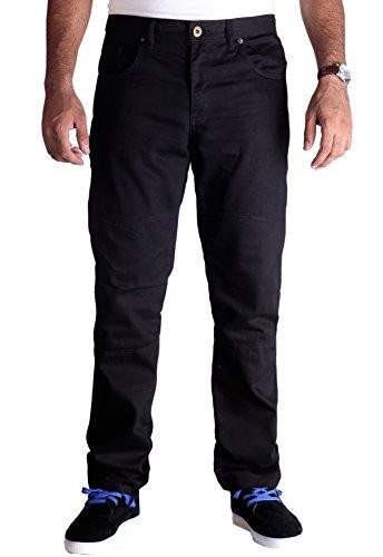 Huxaly Bros HB Men's Bikers Kevlar Jeans - Motorcycle Motorbike Jeans - Kevlar Jeans - 36Wx34L Black