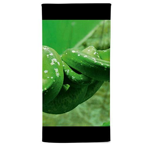 fotobar!style Strandhandtuch 90 x 180 cm Grüne Baumpython (Morelia Viridis)