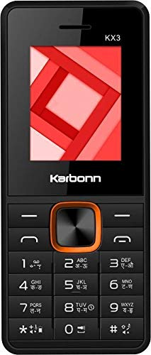 Karbonn KX3 1.8 inch Display Feature Phone with Bluetooth,Dual Sim, 0.3 MP Digital Camera with Zoom, 800 mAH Battery,32 GB Expandable Memory and Support for MP3+MP4, Boom Box Speaker,Black Red Colour.