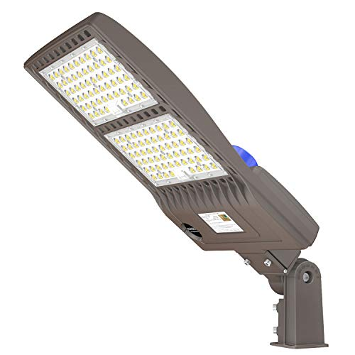 240W LED Parking Lot Lighting 33600LM UL DLC 5000K Shoebox LED Pole Light Fixture Photocell Dusk to Dawn LED Street Area Lights IP65 for Outdoor Driveway Roadway Slip Fitter 960W MH Equivalent