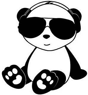 Cool Panda JDM Decal Vinyl Sticker|Cars Trucks Vans Walls Laptop| BLACK |5 x 5.5 in|CCI1630