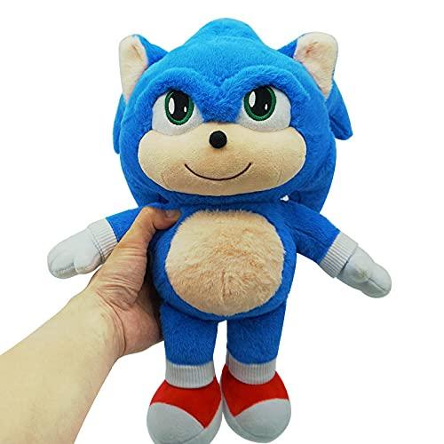 XUNLEI Película De Dibujos Animados Sonic Peluche De Juguete Sonic The Hedgehog Muñeca Suave Almohada De Peluche Decoración para El Hogar Niños 35Cm