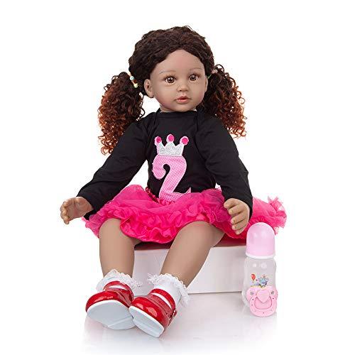 FR&RF Muñecas de bebé de 60 cm, rizos de princesa, realistas de 60 cm, para niños y niñas