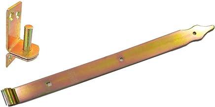 galvanisch verzinkt DMX Ladenband 600x35x4 mm f/ür /Ø13 mm Kloben inklusive Kloben Dorn/Ø 13 mm im Set
