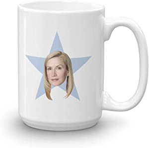 The Office Angela Star White Mug - 15 oz. - Official As Seen On Mug