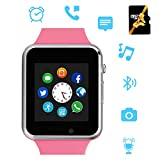 Smart Watch,Bluetooth Smartwatch with Camera Music Player Can Make Phone Call Phone Watch Compatible with Android for Men Womem