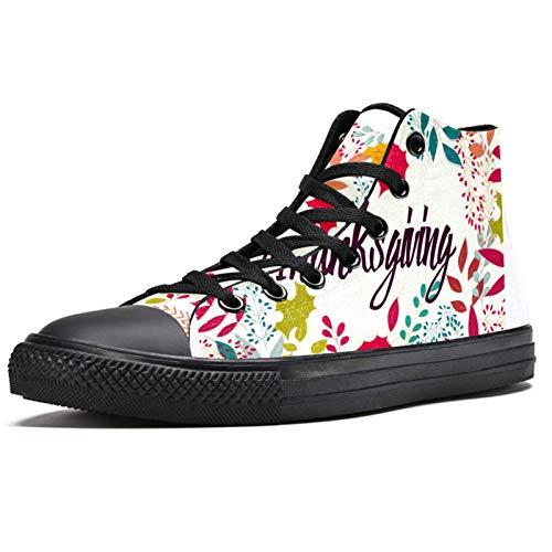 LORVIES - Zapatillas de deporte para hombre, diseño floral, (multicolor), 44 EU