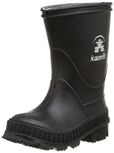Kamik STOMP/KIDS/PUR/4149F Rain Boot Black, 4 M US Big Kid