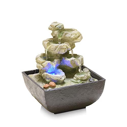 liangzishop Fontana da Interno Lucky Fengshui Ball Desktop Water Fountain Fountain Artificial Artigianato Regali Home Club Decorazione Ufficio Decorazione Set da tè Fontana Decorativa (Color : A)