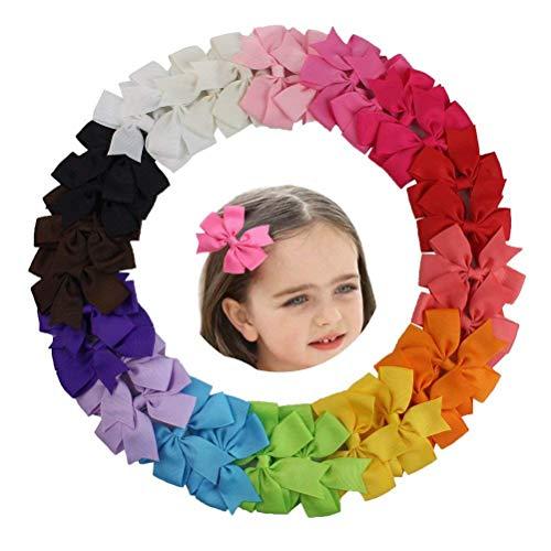 HBF 30 stk mehrfarbig Haarspange Haarband Accessoire Fliege Schleife Deko für Kinder Mädchen verschiedene Farben und Designs