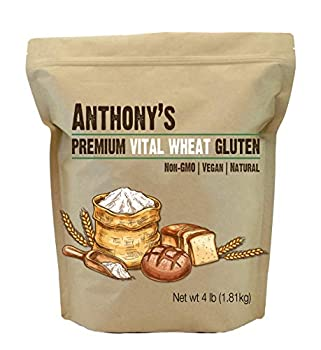 Anthony s Vital Wheat Gluten 4 lb High in Protein Vegan Non GMO Keto Friendly Low Carb