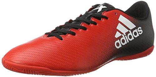 adidas Herren X 16.4 IN Fußballschuhe, Rot (Red/FTWR White/core Black), 43 1/3 EU
