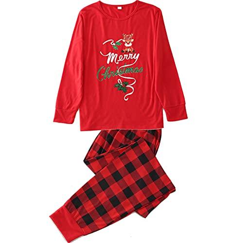 Conjunto de ropa familiar para Navidad, blusa de manga larga y pantalones largos a cuadros, Mommy, L