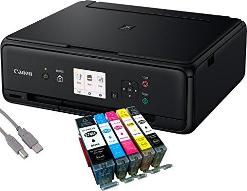 Canon PIXMA TS5050 Drucker Tintenstrahl-Multifunktionsgerät schwarz (Drucken, Scannen, Kopieren, Cloudlink) mit 5 komp. youprint Druckerpatronen PGI570/CLI571 XL (ohne Originalpatronen)