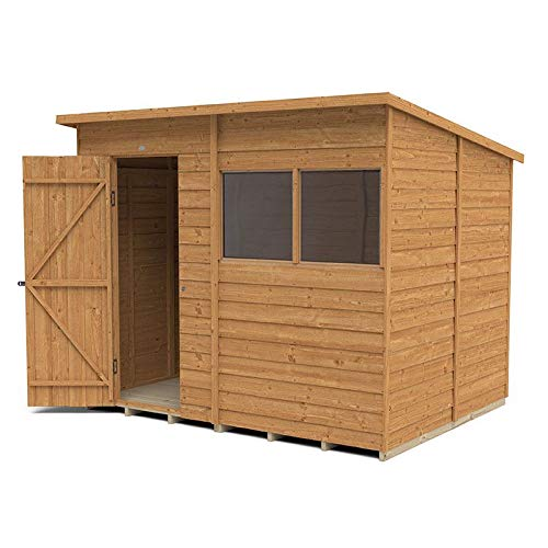 Forest Garden Overlap Dip Treated 8x6 Pent Shed