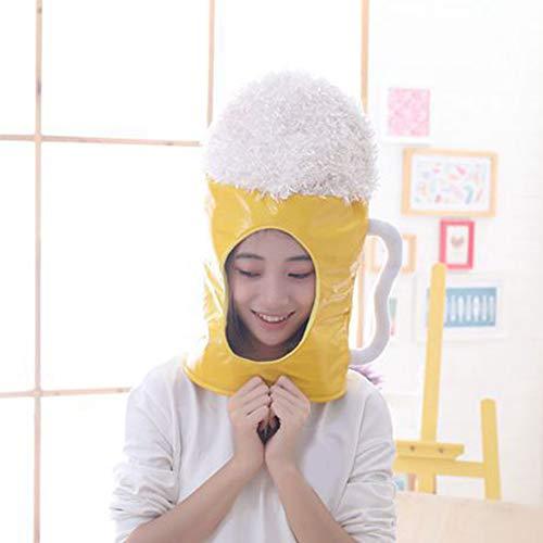 qingbaobao Reisbier Tasse Hut Spielzeug Cosplay Requisiten Zubehör Plüsch Kopf Cosplay Kappe Foto Requisiten Gefüllte Stofftiere 45 cm