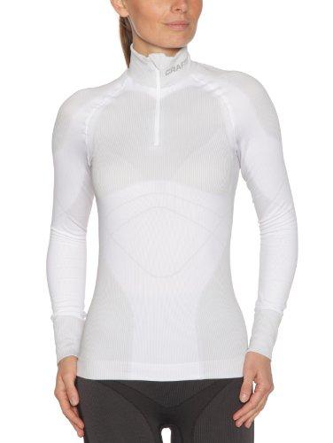 Craft Unterwäsche Warm Stehkragen Zip Langärmelig XL Blanc/Platine