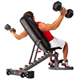 XMark Fitness Adjustable FID Weight Bench, 11-Gauge, 1500 lb. Capacity, 7 Back Pad Positions from...