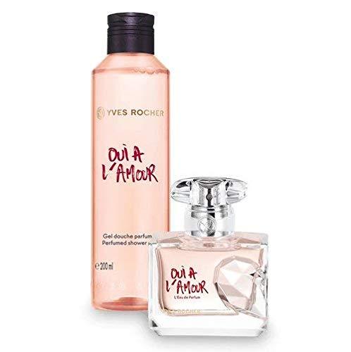 Yves Rocher OUI À L'AMOUR Duft-Set, blumig orientalisches Geschenk-Set mit Eau de Parfum & Duschgel, Valentinstag Geschenkidee für Frauen