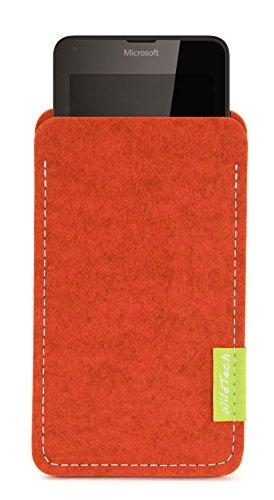 WildTech Sleeve für Microsoft Lumia 640 XL Dual SIM Hülle Tasche - 17 Farben (Made in Germany) - Rost