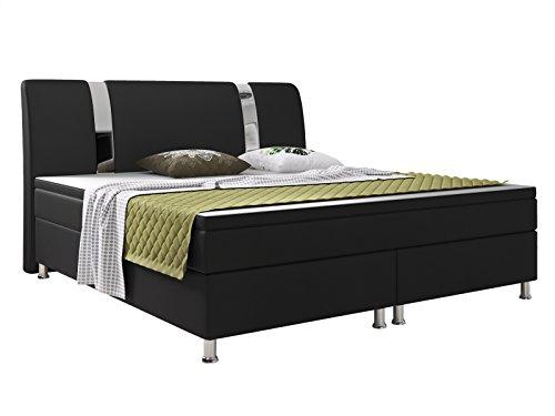 Cama de cama con somier Riva 180x 200cm Piel Sintética...