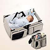 All in one Baby Travel Bag  Multifunctional Newborn Travel Bed  Baby Crib Changing Station  Multiple Practical Pockets  Easy to Wash and Waterproof  Comfortable Shoulder Strap