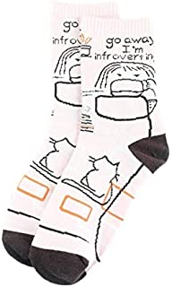 Calcetín de algodón para Mujer Calcetines con patrón de Bocadillo Mujeres Divertidas Vestido de algodón Peinado Calcetines Casuales de Boda Calcetines Coloridos de Skate
