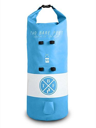 Two Bare Feet Sac à dos étanche 30L/60L/90L pour SUP/Paddleboard/planche de surf/bodyboard gonflable, Aqua (90 L).