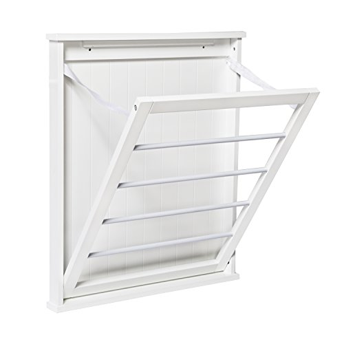 HoneyCanDo DRY04446 Small WallMounted Drying Rack White