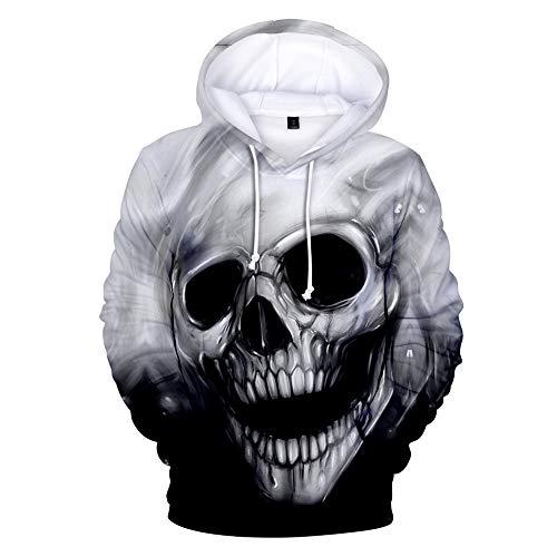x8jdieu3 Herbst und Winter Schädel Kapuzenpullover 3D Digitaldruck Männer und Frauen Paar Kapuzenpullover Sweatshirt