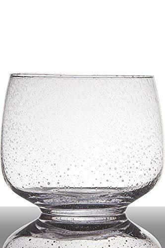 INNA-Glas Lot 2 x Bougeoir en Verre Gracie sur Pied, cône - Rond, Transparent, 18,5cm, Ø22cm - Verre à Bougie - Récipient en Verre