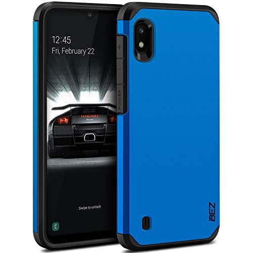 BEZ Handyhülle für Samsung Galaxy A10 Hülle, Tasche Stoßfestes Kompatibel für Samsung A10, [Heavy Duty Serie] Outdoor Dual Layer Armor Hülle Handy Schutzhülle Robuste, Blaue Marine