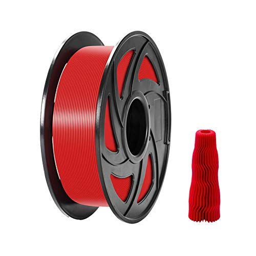Printer Accessories TPU Filament,TPU 3D Printer Filament 1.75mm Dimensional Accuracy +/- 0.05mm 1kg(2.2lbs) Spool, White (Color : Red)