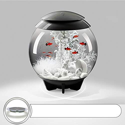 SAUY 30L Aquarium Starter Kits mit LED-Licht Sphärische ökologische Aquarium Desktop Aquarium Aquarium-LED-5