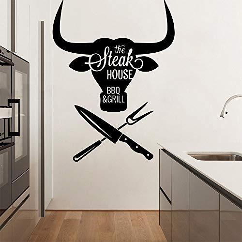 Yaonuli Steak House muurschildering, afneembaar, voor woonkamer, slaapkamer, muursticker