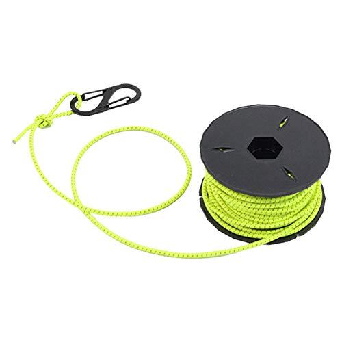 Redcolourful 15 Mt Starke Elastische Seil Bungee Shock Cord Stretch String DIY Im Freien Projekt Zelt Kajak Boot SeilFluoreszierend grün, 3mm