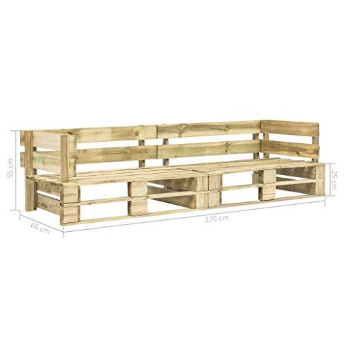 Tidyard Garten-Palettensofa 2-Sitzer Holz,Lounge Loungesofa Gartensofa Terrassensofa Sofa Paletten-Sofa 220 x 66 x 55 cm,Gartenmöbel Palettenmöbel Gartengarnitur,Palettendesign,Montage erforderlich