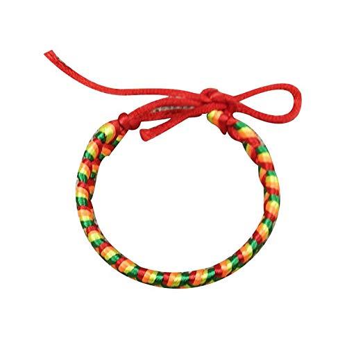 QiKun-Home Pulsera de Cuerda roja de Kabbalah Hecha a Mano, Pulsera de la Suerte Ajustable, Pulsera de Cuerda para Mujeres y niñas para el éxito, Color Aleatorio 3#