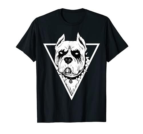 Pitbull gótico - para los amantes de los perros de Halloween de metal pesado Camiseta