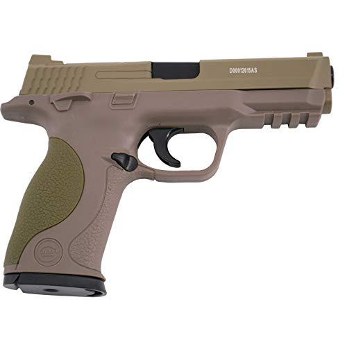 Galaxy Pistola G51D Tipo S&W MP40 - Desert - Pistola Muelle Calibre 6 mm Aleación Metal y Zinc - Energía 0.21 Julios - Velocidad de Disparo 66m/s - 216 FPS. Ref:G51D